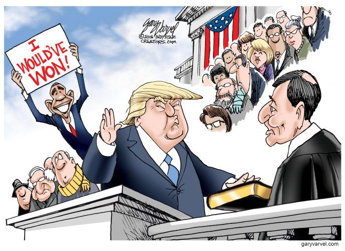 Obama cartoon U.S. President Obama third term Donald Trump inauguration