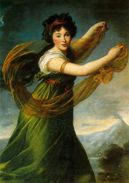 1794 Princess Sapieha, née Potocka, or Dancing with Shawl by Élisabeth Lousie Vigée Lebrun (Zamek Królewski w Warszawie - Warsawa Poland) From thevictorianlady.tumblr.com:post:7322744924:princess-sapiena-nee-potocka-or-dancing-with