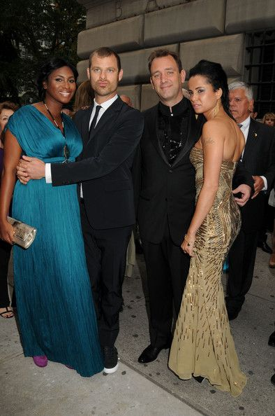 Angela and Matt Stone (co-creator of South Park) + Trey Parker (co-creator of South Park) and girlfriend Boogie || #bwwm #wmbw #interacial