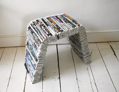 recycled paper furniture. newpaper recycled chair diy pinterest newspaper magazine crafts and recycle paper furniture s