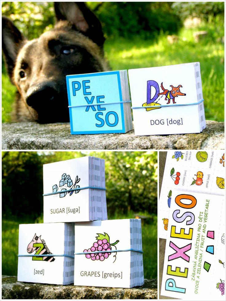 anglické pexeso, zábavné hry a knížky pro děti