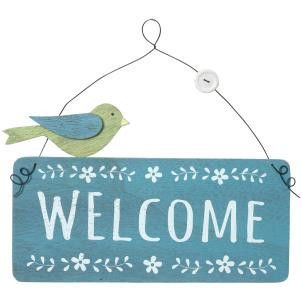 Welcome sign with bird - Amour Decor