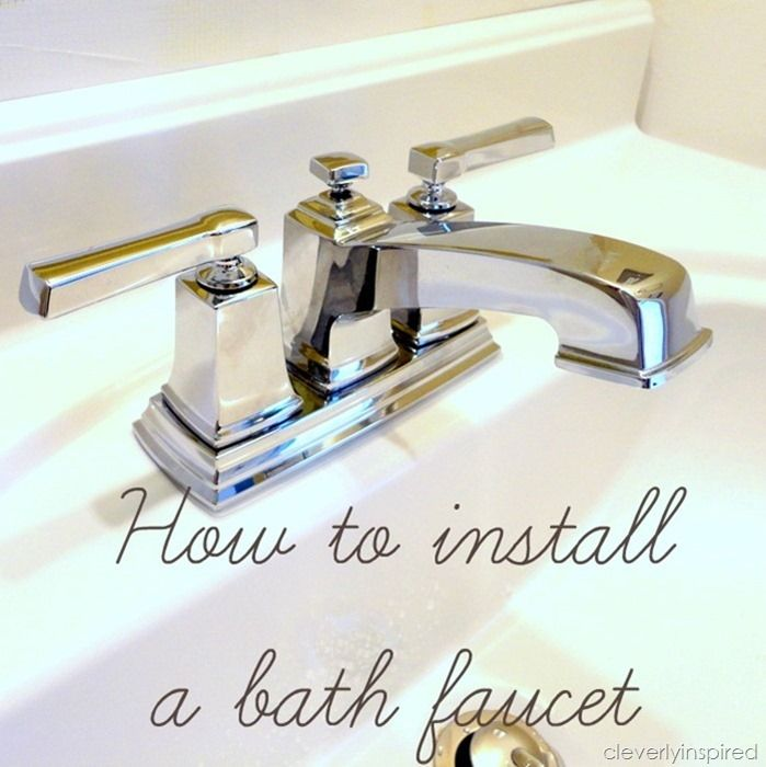 Install A Bathroom Faucet How To Video Cleverly Inspired Installation Bathroom Faucets Updating House