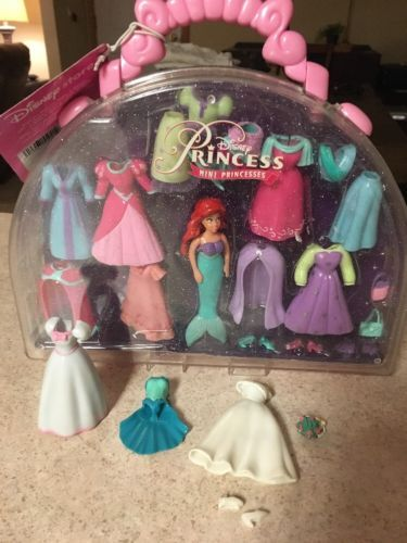 DISNEY STORE MINI PRINCESS ARIEL MERMAID FASHION ACCESSORY SET CASE Polly Pocket | eBay