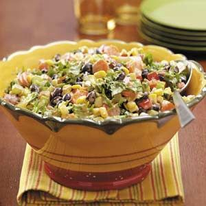 Fiesta Salad - I like this one - with a choice of Ranch or Trader Joe's Cilantro dressings on the side.