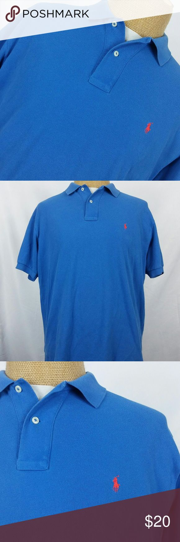 Polo Ralph Lauren Red Pony Blue Polo Shirt Very good condition Polo by Ralph Lauren Shirts Polos
