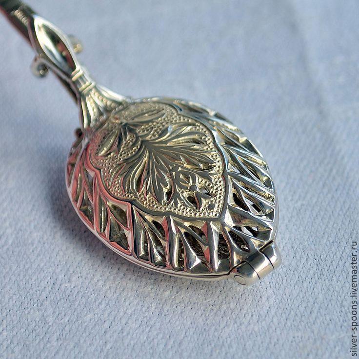 """Серебряная заварочная ложка """"Ампир"""". Ложка для заварки чая. Ag 925 - Серебряные ложки Скоблинского - Ярмарка Мастеров"""
