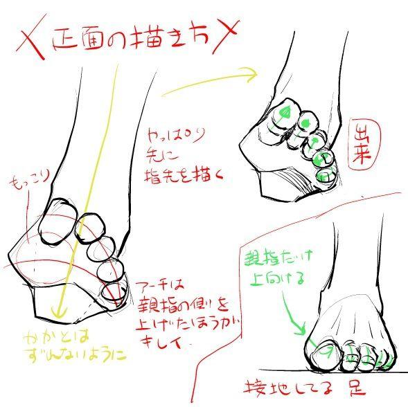 色気のある足・脚の描き方 [4]