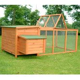 Found it at Wayfair - Pawhut Wood Chicken Coop Rabbit Hen House Nest Huge Run Backyard Poultry Cage
