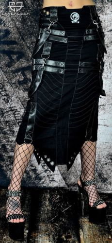 Cryoflesh-Rivethead-Cyber-Goth-Punk-Rave-Industrial-Apocalyptic-Skirt