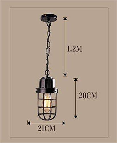 lampes rétro minimaliste industriels en fer forgé américains personnalité créative salon comptoirs de bar Cafe Restaurant à tête unique chandelier (1 lumière) ( couleur : Blanc ): Amazon.fr: Cuisine & Maison