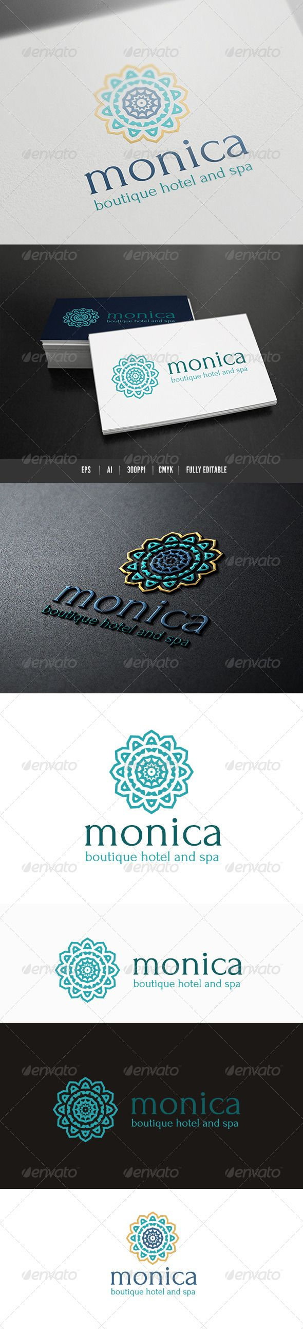 Boutique Hotel Spa — Vector EPS #monica #luxury • Available here → https://graphicriver.net/item/boutique-hotel-spa/8563154?ref=pxcr