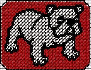 Bulldog Mousepad Plastic Canvas EPattern by JeepysJubilee on Etsy, $3.00  - for Boles fans