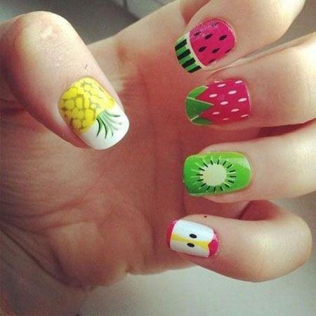 28 Stylish Fruit Nail Designs ideas  #naildesignsideas #fruitnaildesigns #nailartdesign