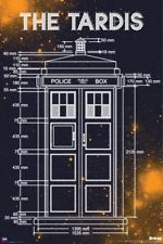 DOCTOR WHO ~ TARDIS MEASUREMENTS 24x36 POSTER DR Police Box Diagram Schematic