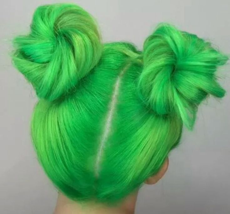 lime green buns