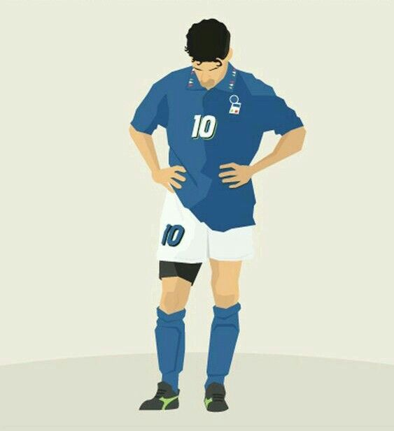Roberto Baggio after his penalty miss in the 1994 World Cup Final.