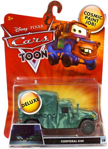 Disney Cars Diecast Complete List | Disney / Pixar CARS TOON 155 Die Cast Car Oversized Vehicle Corporal ...