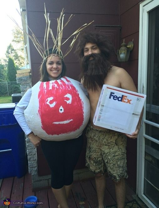 Castaway Wilson and Chuck Noland - Halloween Costume Contest via @costume_works