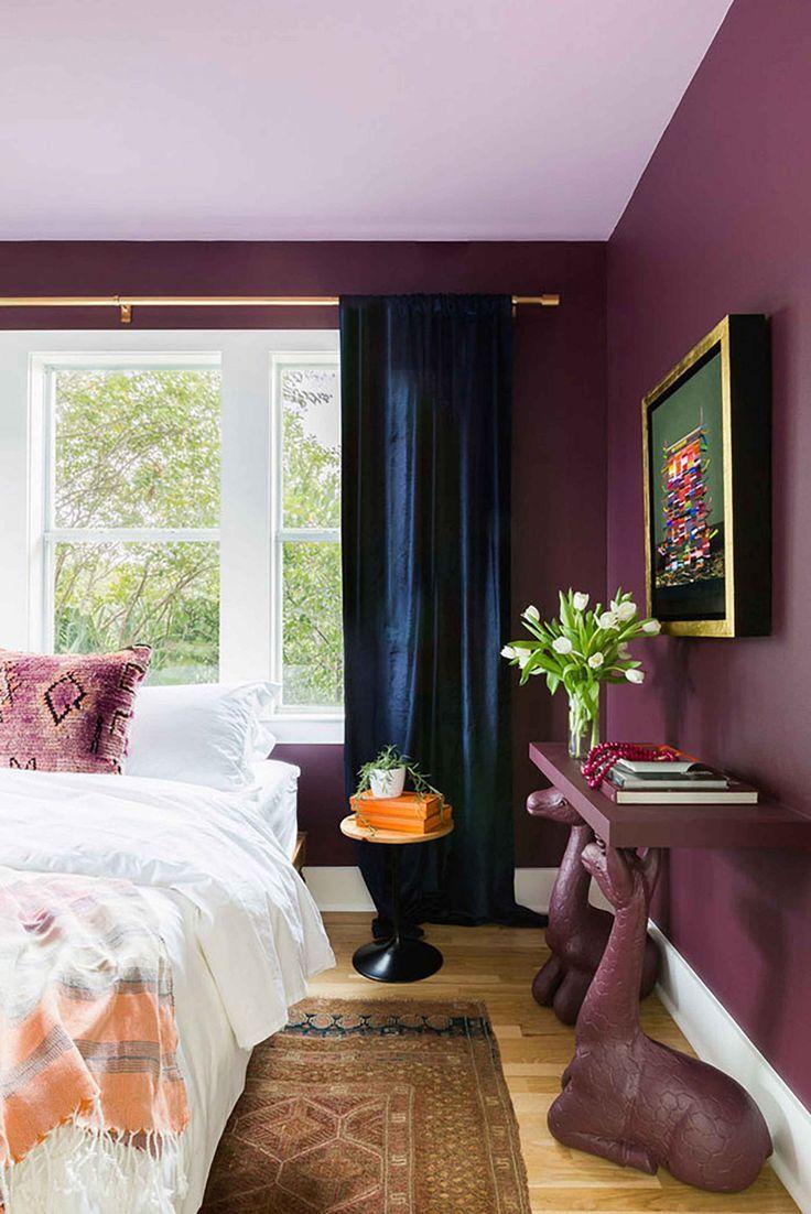 Modern Maximalism In Support Of Colored Walls Emily Henderson Home Decor Bedroom Burgundy Bedroom Maroon Bedroom
