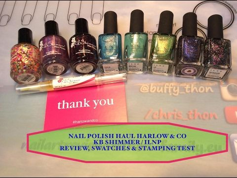 ️ Nail Polish Haul Harlow & Co: Review, Swatches & StampingTest️ - YouTube