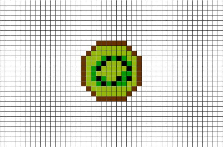 Kiwi Pixel Art Pixel Art Art Plastic Canvas