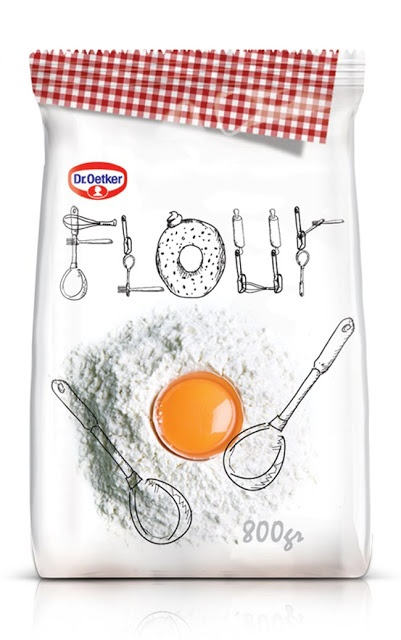 Flour packaging design that even makes me want to bake.
