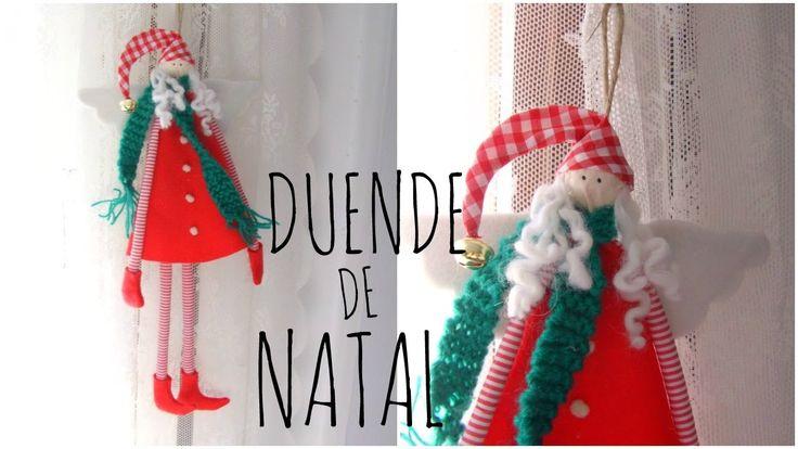 DIY - Decoraçao de natal em feltro  - UMA LINDA DUENDE