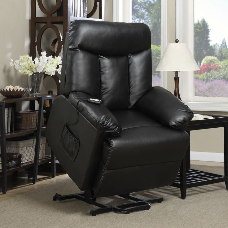 Black Renu Leather Power Recline N Lift Chair Wall Hugger Lounge TV Chair New & Best 25+ Power recliner chairs ideas on Pinterest | Recliners ... islam-shia.org