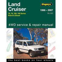 Toyota Landcruiser Petrol & Diesel Workshop Repair Manual 1998-2007 MPN GAP05520
