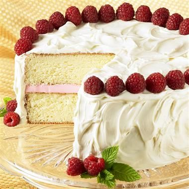 Rave reviews will come your way when you serve this elegant cake, a classic combination of white chocolate and raspberries. Under $1.50 per serving!