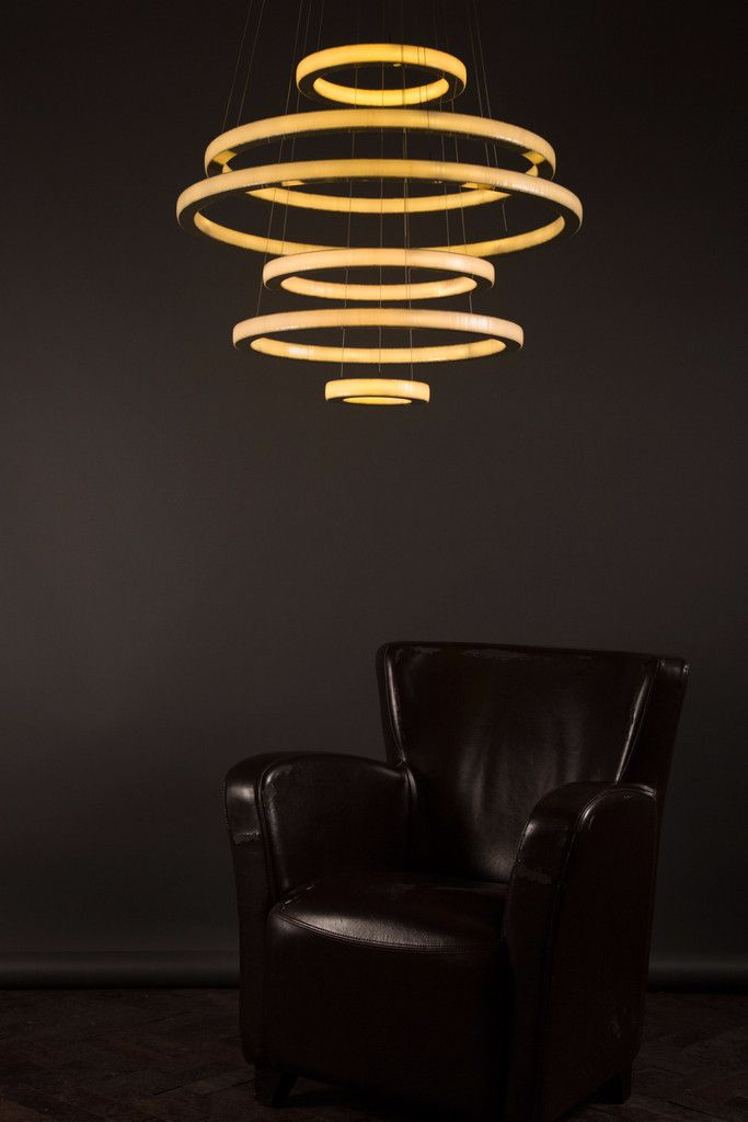 Salo By Cameron Design House Each Seamless Brass Ring Encases Both Internal  And External Facing Dimmable LED Light.