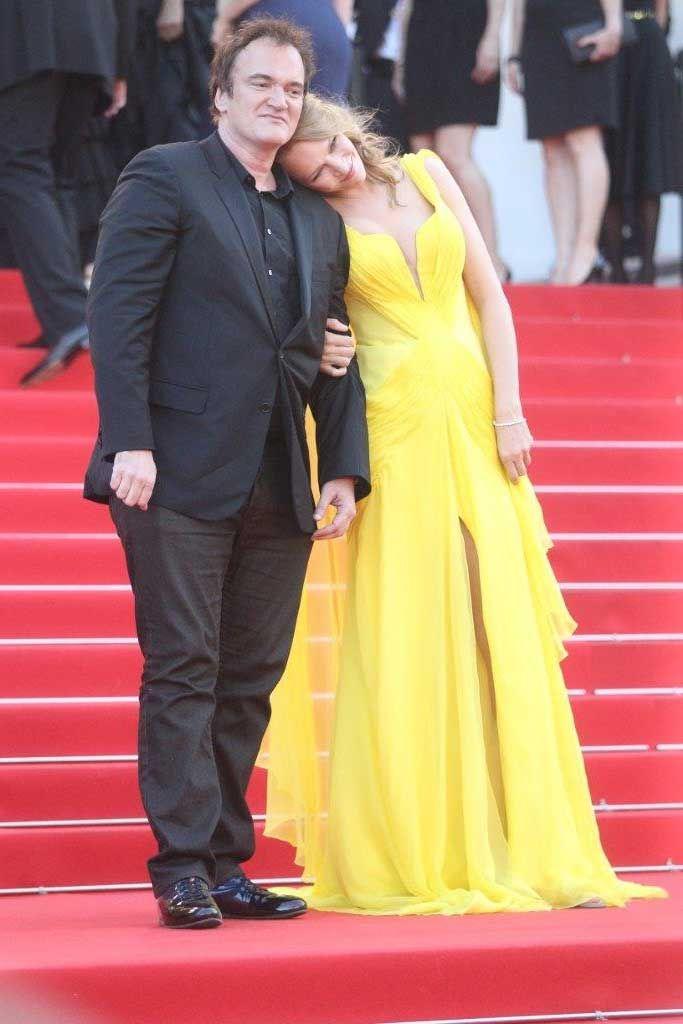 Quentin Tarantino e Uma Thurman a Cannes 2014. Foto di Pietro Coccia