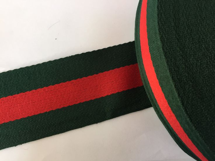 """2"""" green and red striped ribbon,  grosgrain ribbon, striped grosgrain ribbon, polyester ribbon, belt ribbon by NoaElastics on Etsy"""