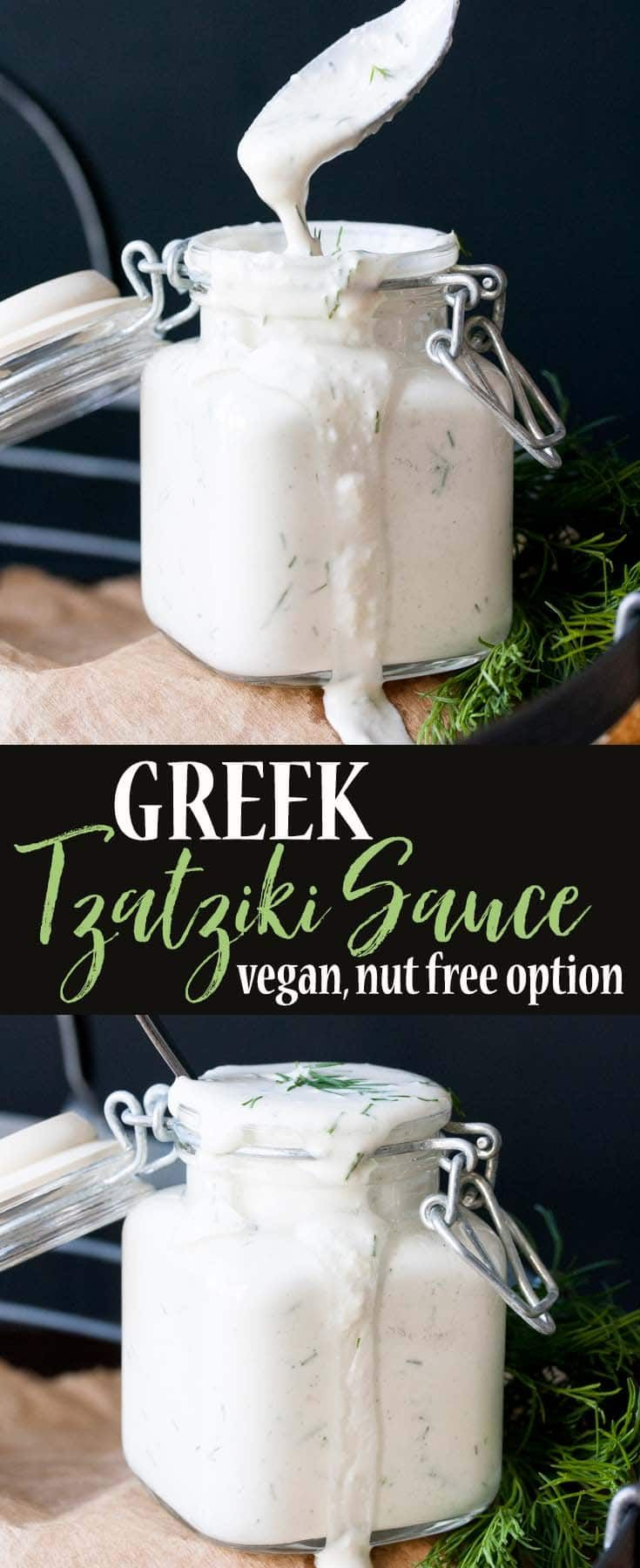 This authentic vegan tzatziki is like no other. Creamy, garlicky, and perfect for dipping, smothering, or licking off your fingers! #vegan #plantbased #wholefoods #glutenfree via @veggiesdontbite