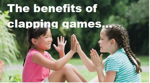 Hand-clapping games for everyone to enjoy! This article explains why hand-clapping is so developmentally helpful and offers links to several games.