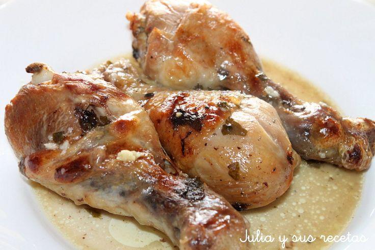 Jamoncitos de pollo al ajillo al microondas | Cocinar en casa es facilisimo.com