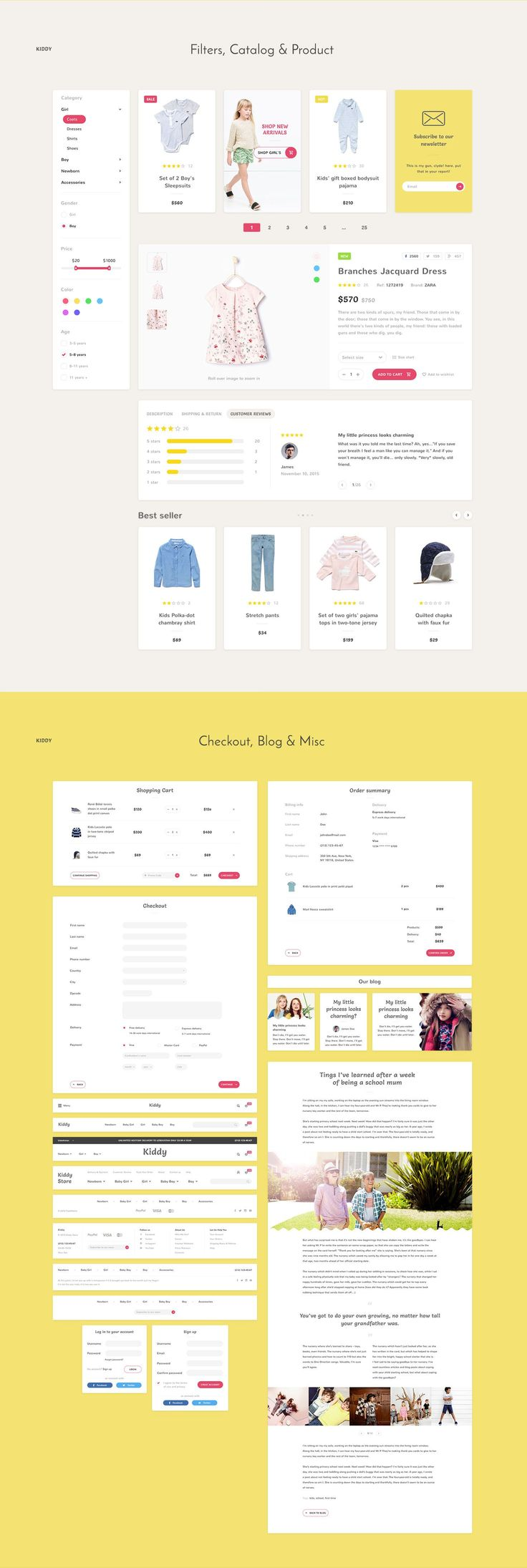 kids store website design | visual hierarchy
