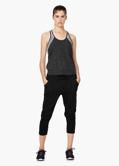 Yoga - relaxed capri trousers | MANGO