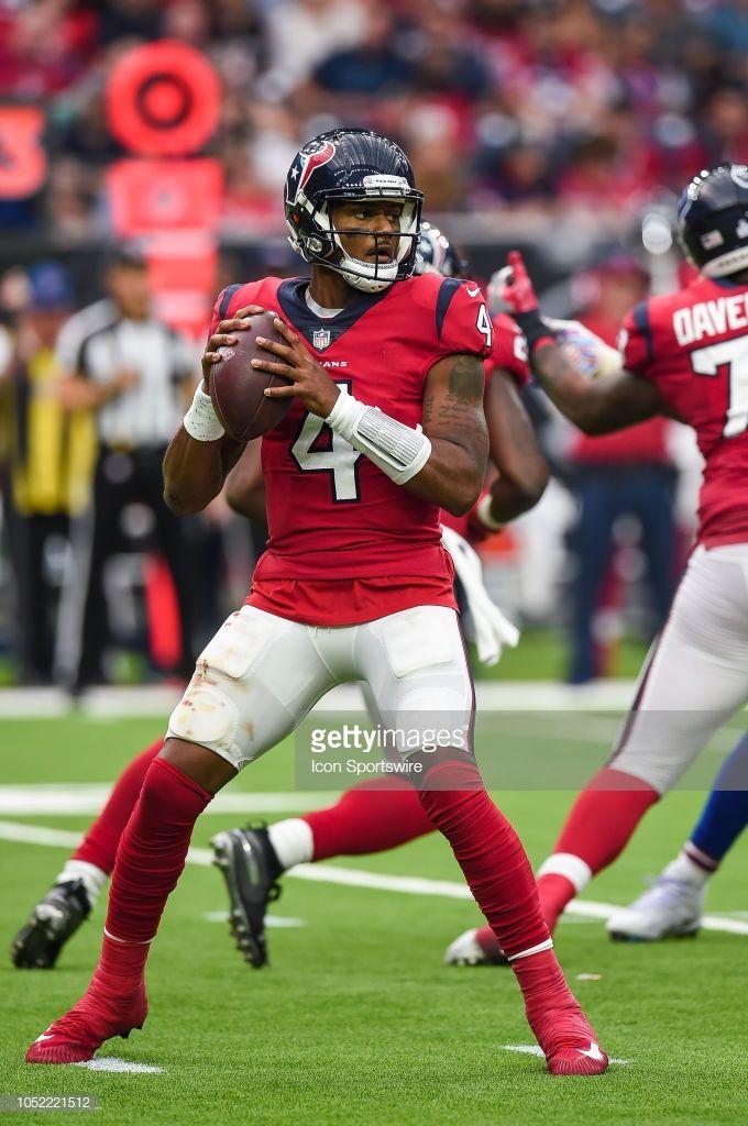 Houston Texans Quarterback Deshaun Watson Looks To Throw During