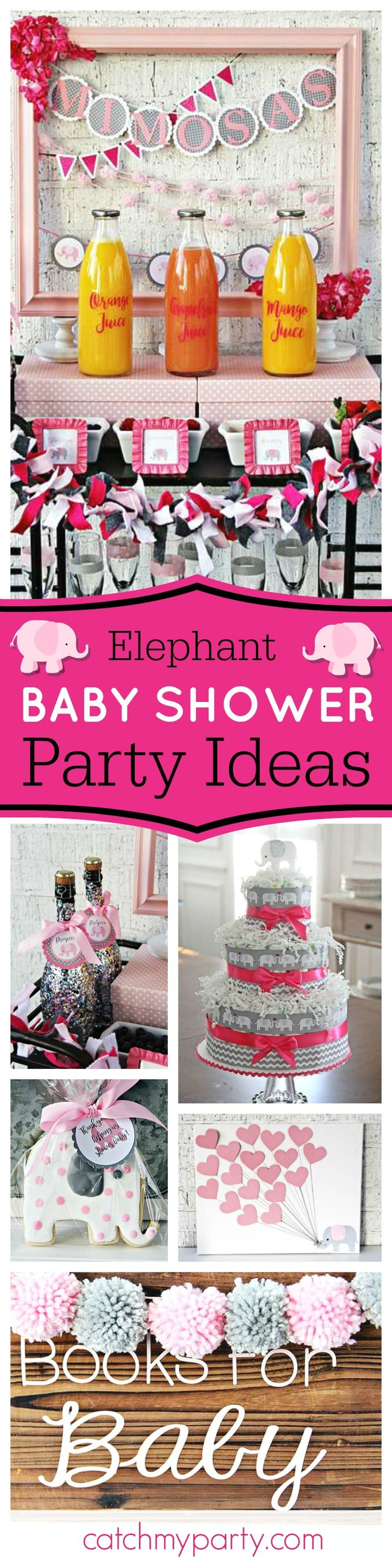 Don't miss this adorable Elephant inspired Baby Shower! The cookies are gorgeous!! See more party ideas and share yours at CatchMyParty.com