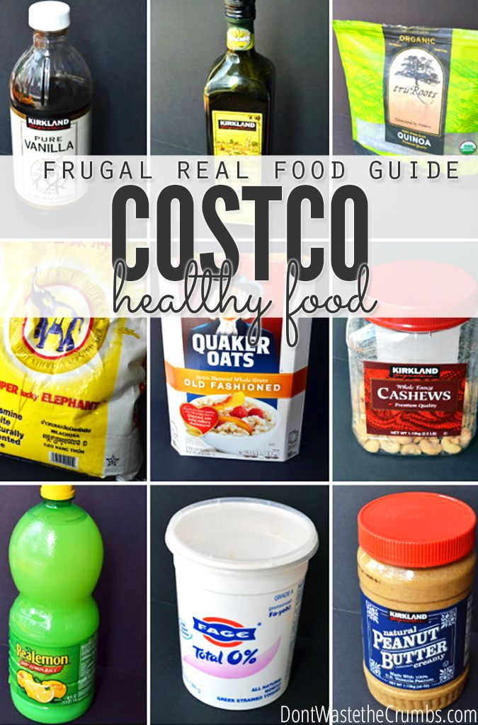 A totally awesome guide to healthy food at Costco, broken down into four categories for you! :: DontWastetheCrumbs.com