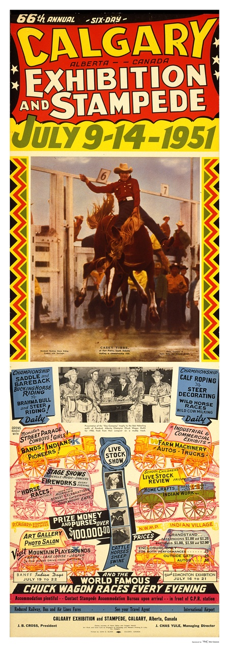 1951 Calgary Exhibition & Stampede #Vintage #Poster #YYC