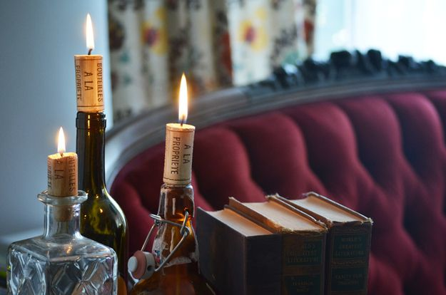 Cork Candles   25 Things You Can DIY With Corks