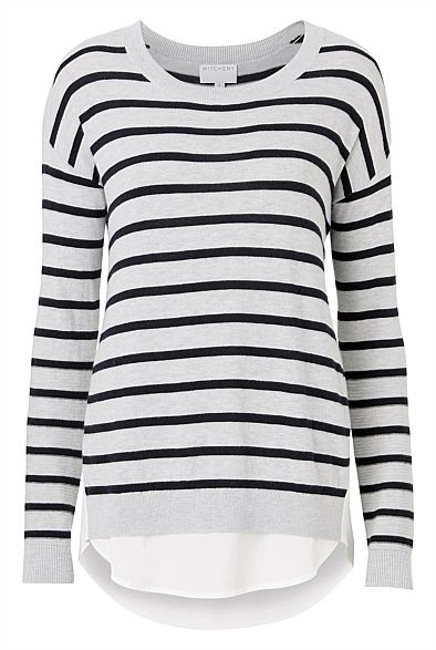 Shop Women's Clothing Australia - Witchery Online - Spliced Underlay Knit