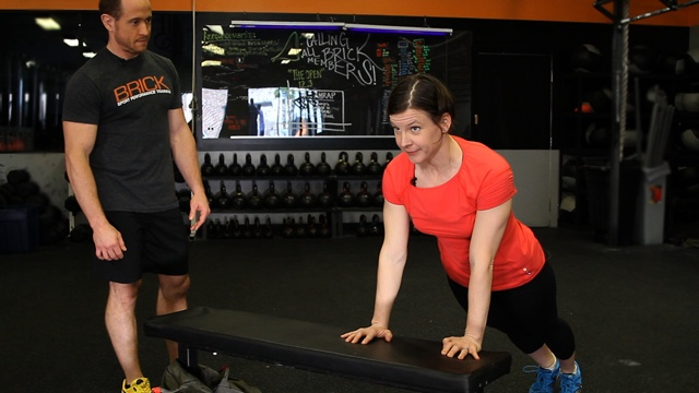 Bench Workout With Brick CrossFit [Video]