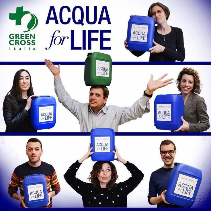 Italian Green Cross staff for AcquaforLife 2016