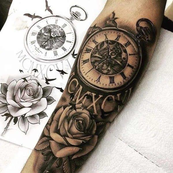Gammaldags Klocka Tatuering