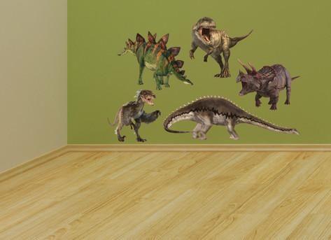 Dinosaur Group Layout Muursticker