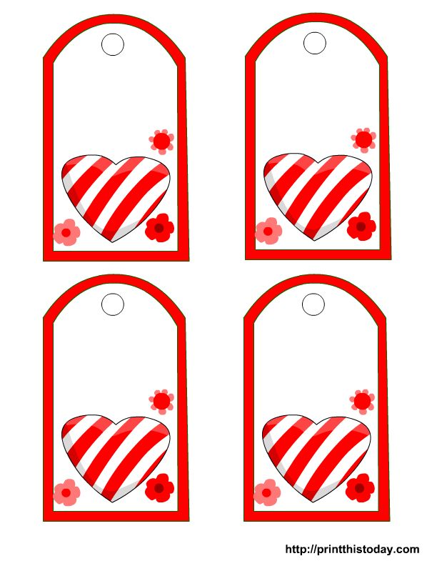 474 best holiday valentines printables images on pinterest post this is another adorable free valentine tag printable it has a cute striped candy heart and red flowers around negle Image collections